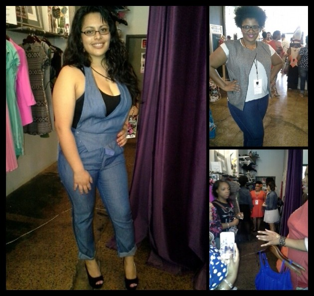 Some of the Beautique Hoppers trying on clothes from MeloDrama