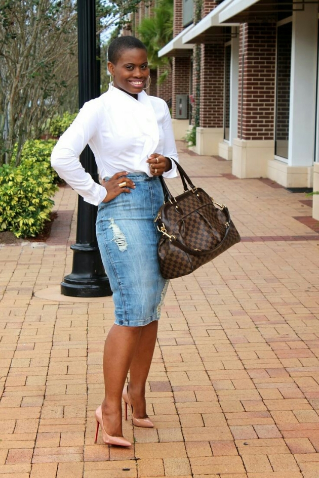 "Fashion Blogger SindyStylz, in ""Pencil me In"""