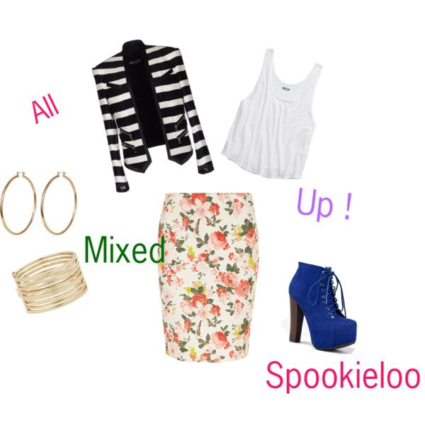 All Mixed Up! Try this style for a night out with friends!