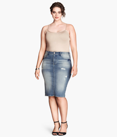 H&M Denim pencil skirt