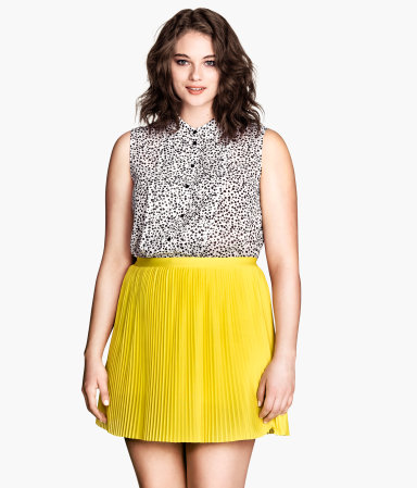 Yellow A-line skirt, H&M
