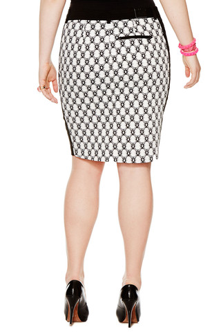MYNT 1792 Graphic Print Pencil Skirt