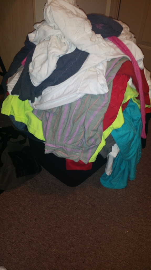 "My ""No"" pile is looking rather big...making room for better clothes!"