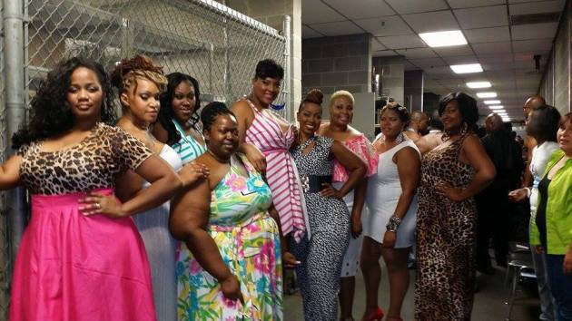 Wendy Striggles and her models backstage at the Taste of the Runway Atlanta
