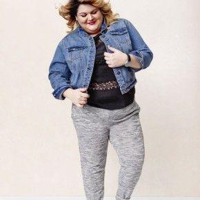 Women's Plus Size Jogger Pants Gray-Ava & Viv , 9Nicole Mason)